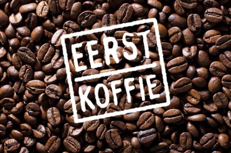 eerst koffie